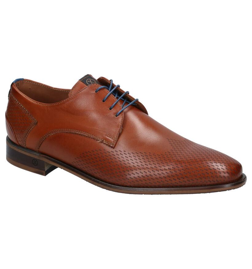 Ambiorix Evert Chaussures habillées en Cognac en cuir (274915)