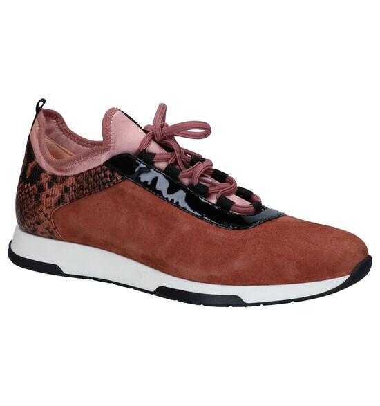 Unisa Chaussures à lacets en Rose foncé