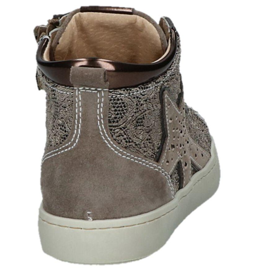 Taupe NeroGiardini Boots met Steentjes in kunstleer (230695)