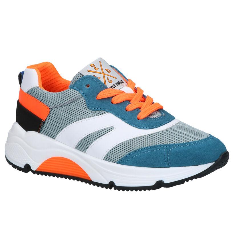 Little David Porto Blauwe Sneakers in daim (273311)