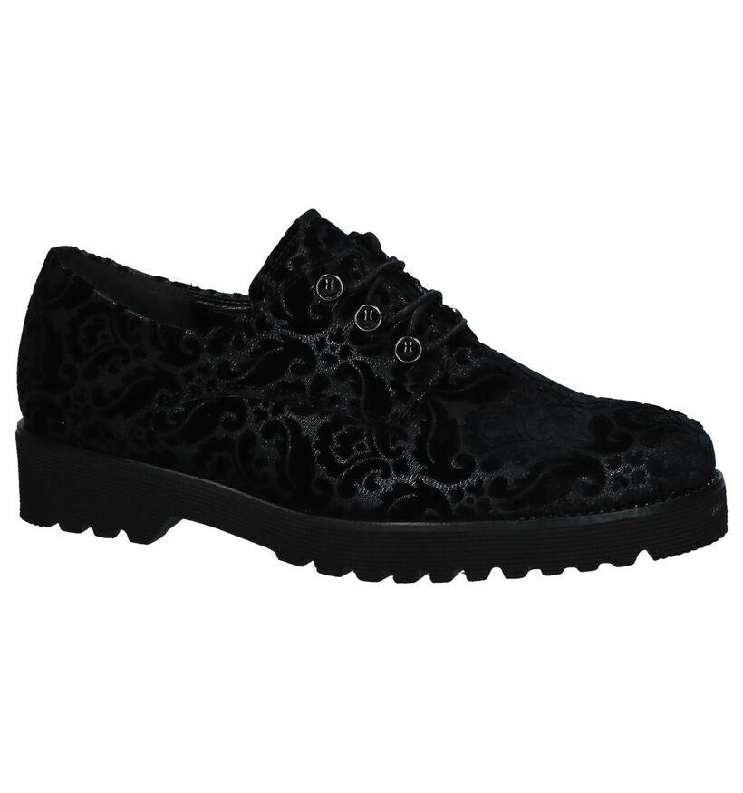 Gabor Easy Walking Chaussures à lacets en Noir en textile (231334)