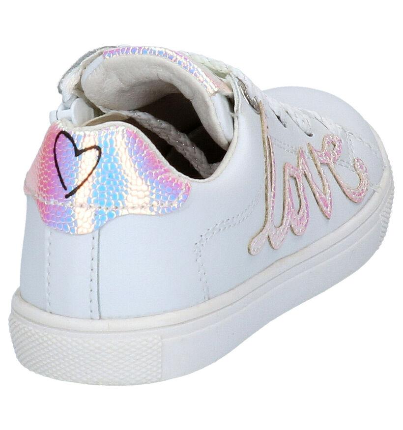 Witte Lage Sneakers Braqeez Leigh Lowies in leer (275290)