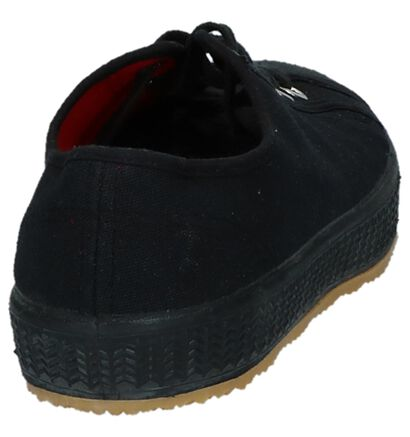 Lage Sneakers Komrads Lenin Zwart in stof (232541)