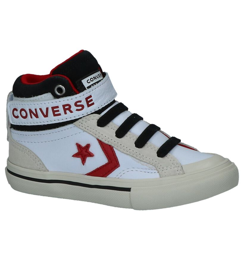 Converse Pro Blaze Strap Hi Witte Sneakers in kunstleer (277698)