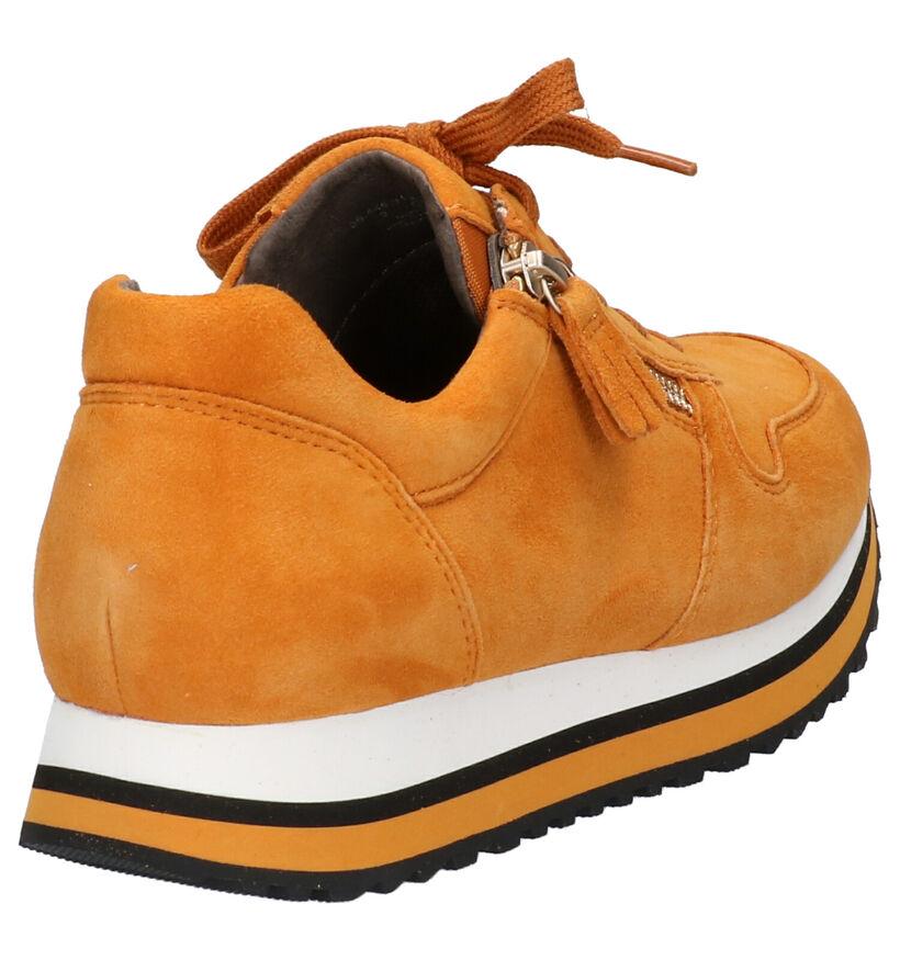 Gabor OptiFit Chaussures à lacets en Noir en simili cuir (260222)