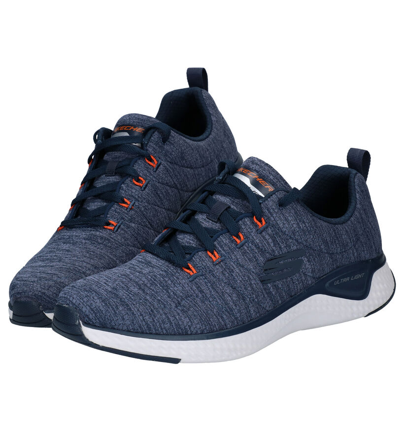 Skechers Solar Fuse Motion Sensor Blauwe Sneakers in stof (279360)