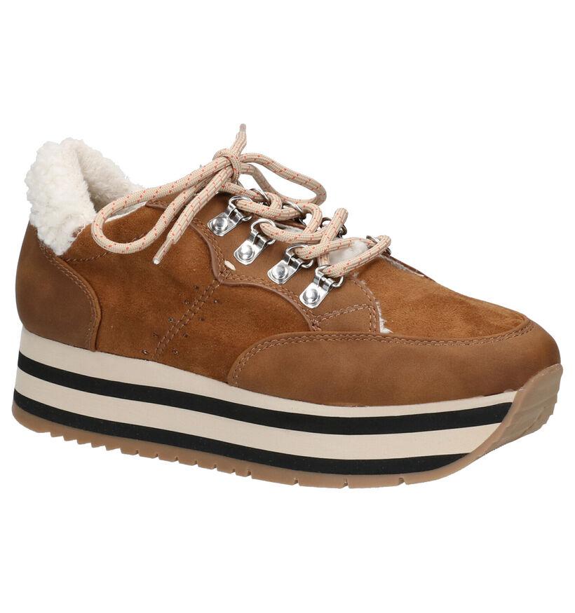 Youh! Chaussures à lacets en Cognac en textile (255760)