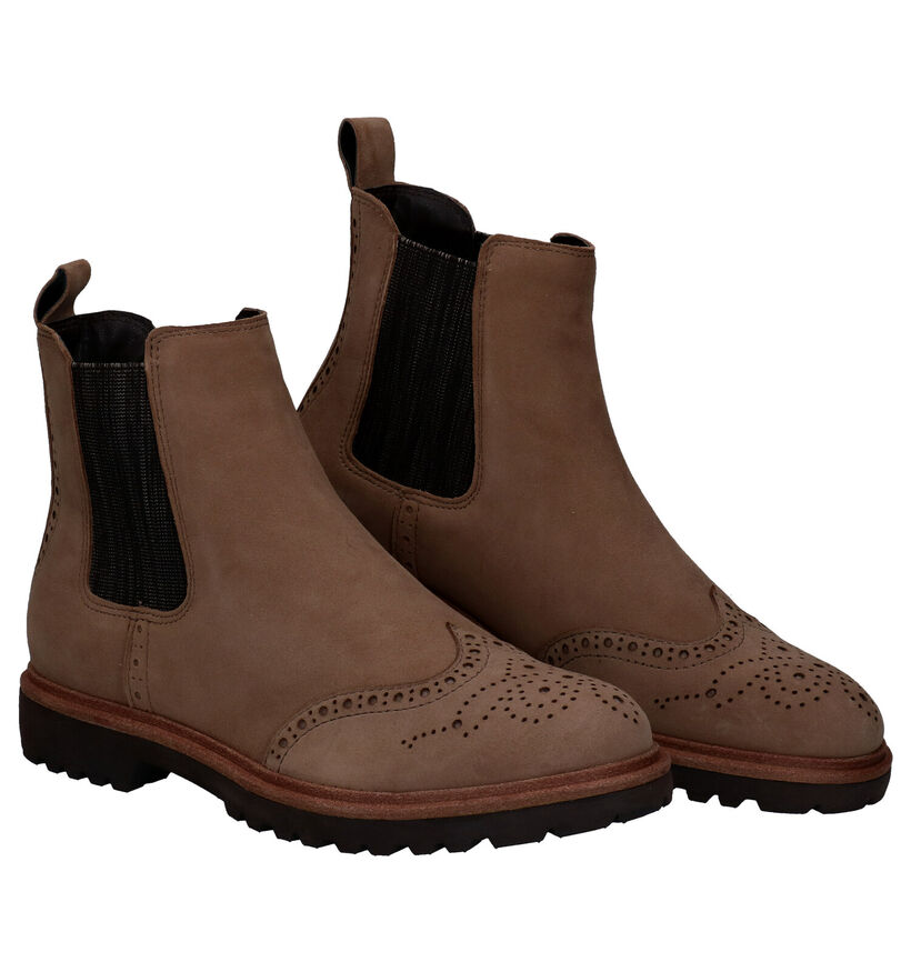 Tamaris TOUCH it Taupe Chelsea Boots in nubuck (280702)