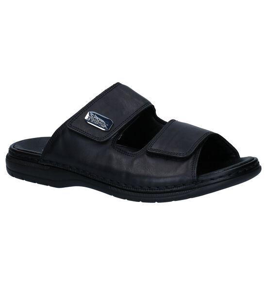 Rieker Zwarte Slippers