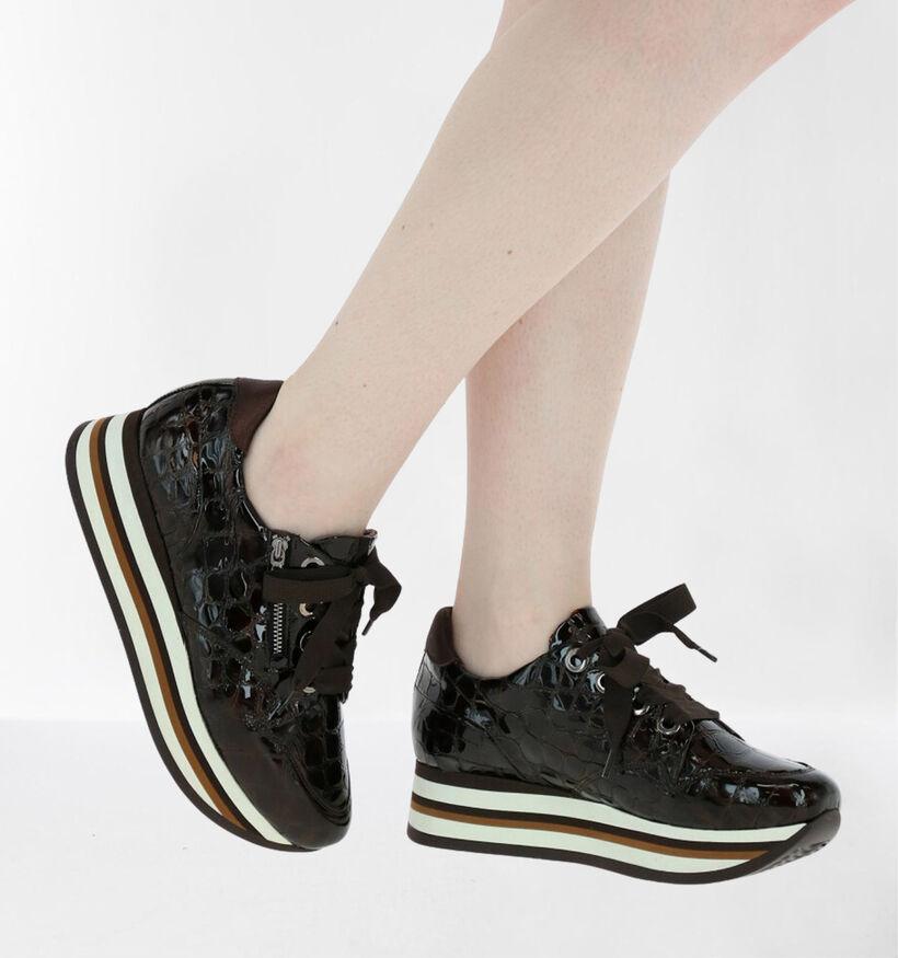 Softwaves Chaussures à lacets en Marron en cuir (281979)
