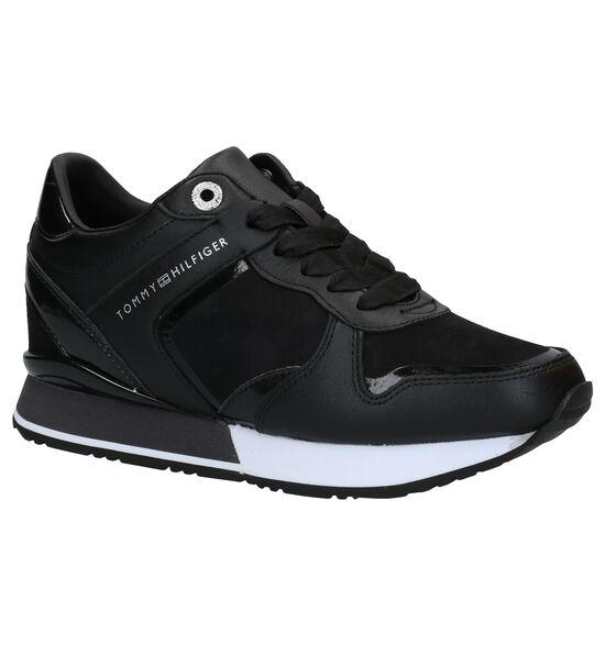 Tommy Hilfiger Dressy Wedge Zwarte Sneakers