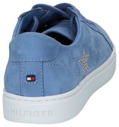 Lichtblauwe Lage Geklede Sneakers Tommy Hilfiger Star, Blauw, pdp