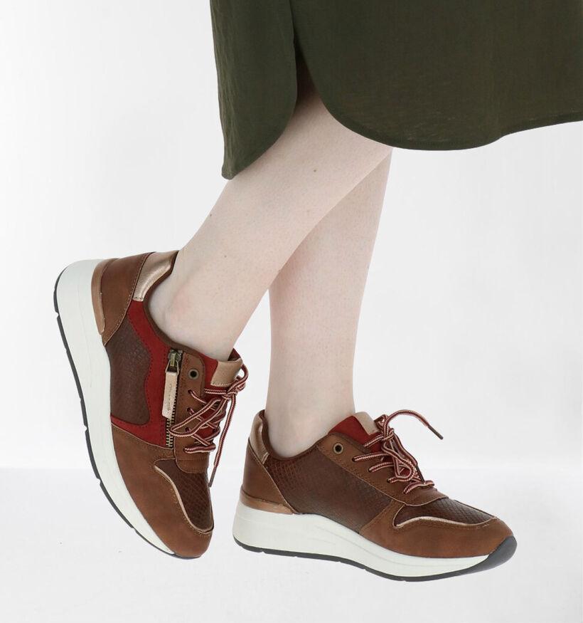Sprox Chaussures à lacets en Marron en simili cuir (288449)