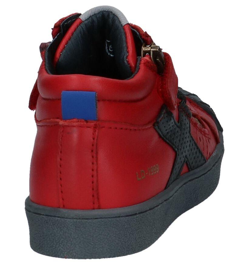 Little David Chaussures hautes en Rouge foncé en cuir (232491)