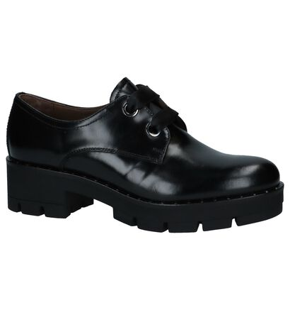 Zwarte NeroGiardini Veterschoenen met Studs, Zwart, pdp