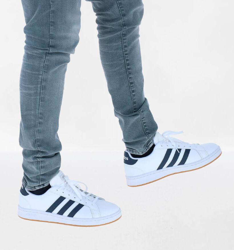 adidas Grand Court Witte Sneakers in kunstleer (273810)
