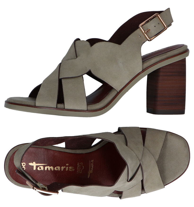 Tamaris Touch it Cognac Sandalen in daim (289421)