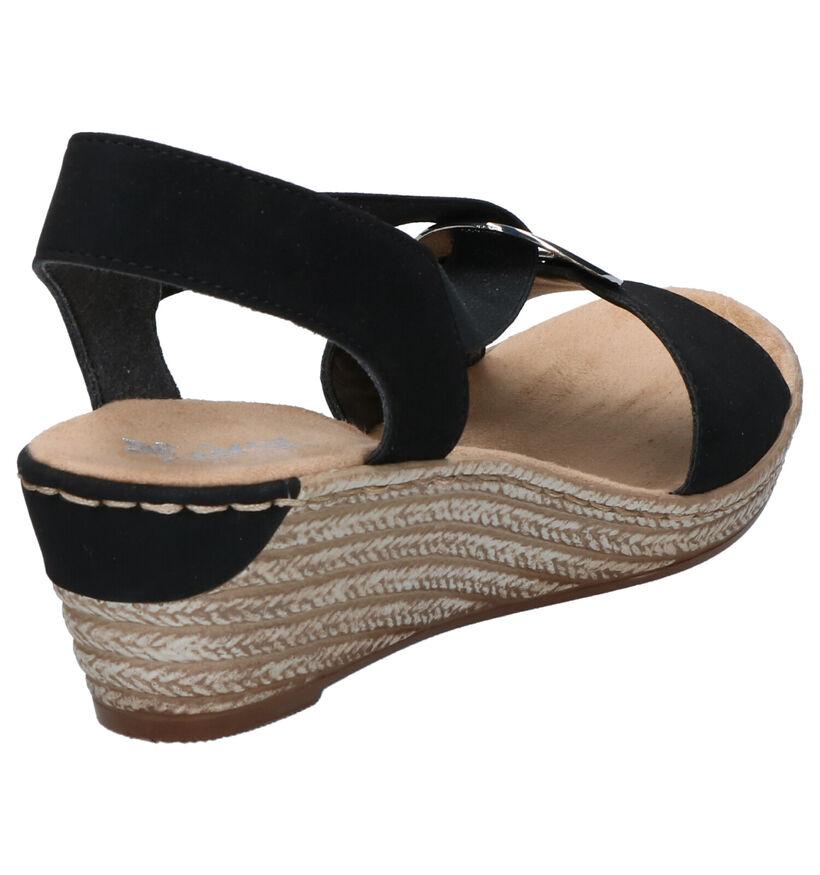 Rieker Zwarte Sandalen in kunstleer (271885)