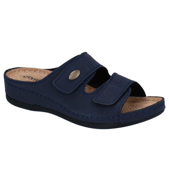 Comfort Plus Blauwe Slippers