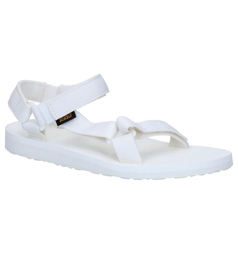 Teva Original Sandales en Blanc en textile (270638)