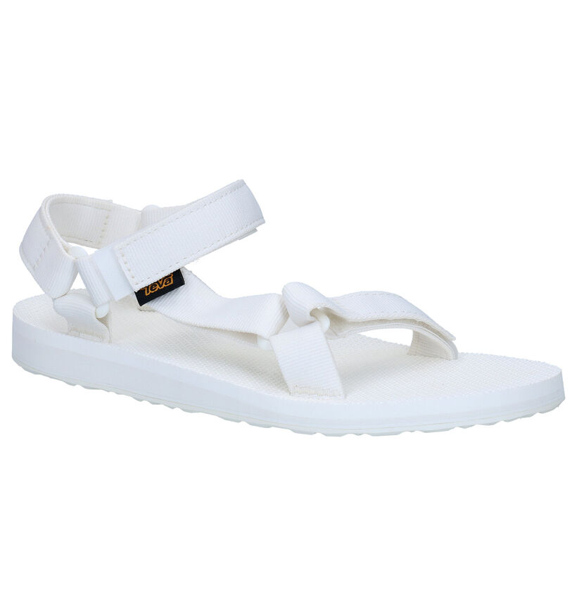 Teva Original Witte Sandalen in stof (270638)