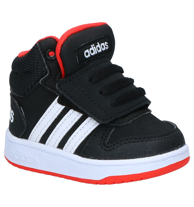 adidas Hoops Baskets en Noir en simili cuir (262060)