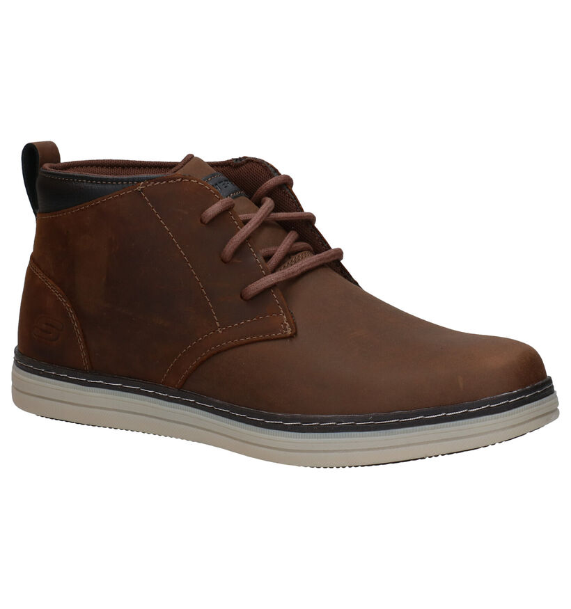 Skechers Heston Regano Bruine Hoge Schoenen in nubuck (277893)