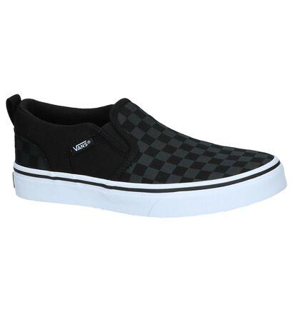 Zwarte Slip-On Sneakers Vans Asher, Zwart, pdp