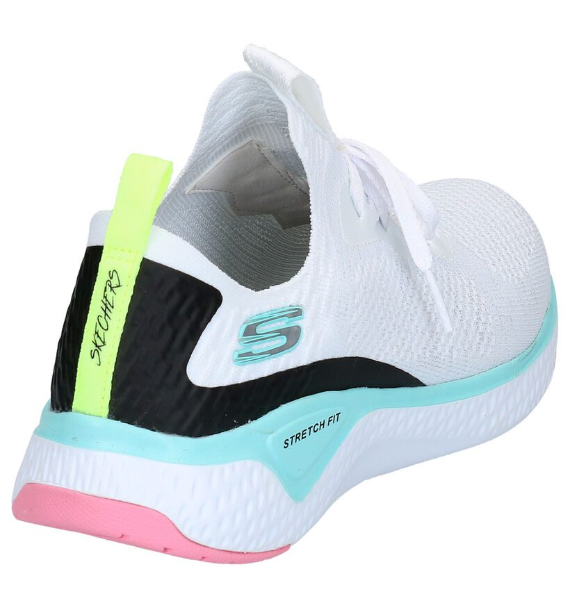 Zwarte Slip-on Sneakers Skechers Solar Fuse in stof (266932)