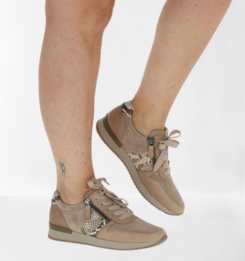 Gabor Best Fitting Chaussures à lacets en Noir en cuir verni (282369)