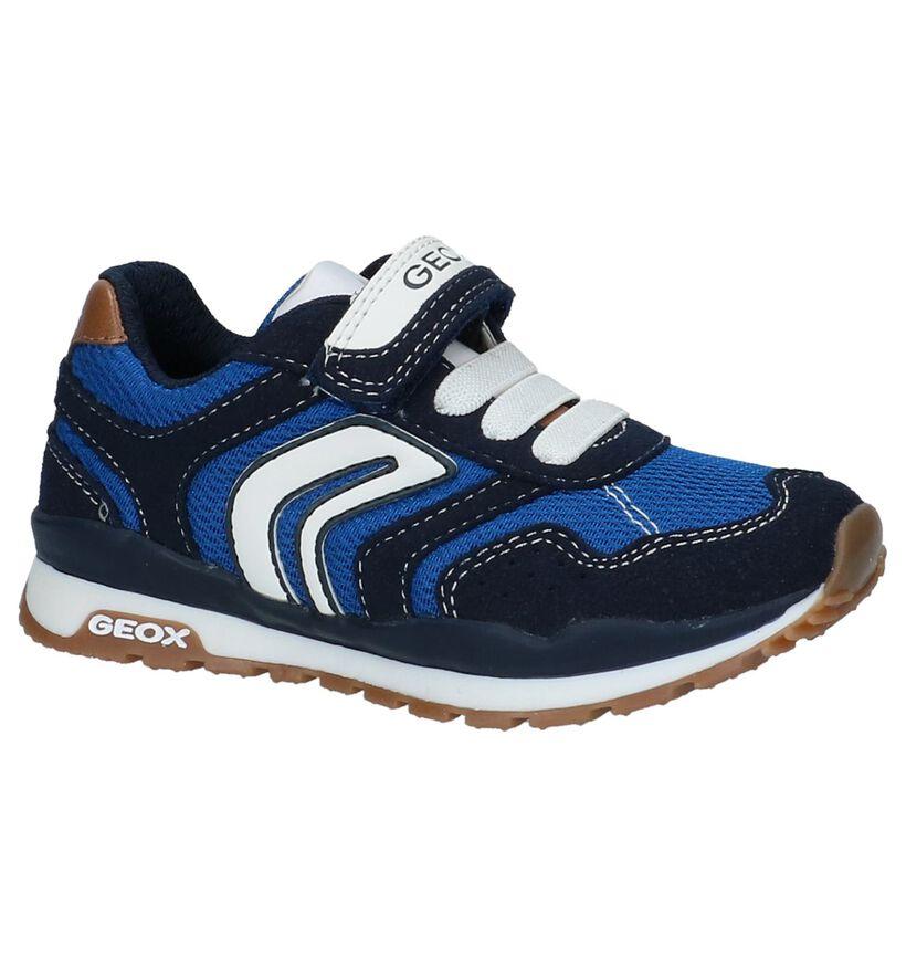 Geox Baskets basses en Bleu foncé en textile (210527)