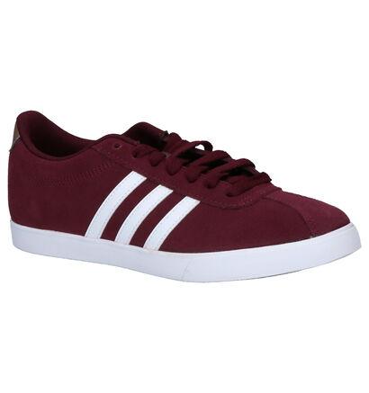 adidas Courtset Zwarte Sneakers in daim (252567)