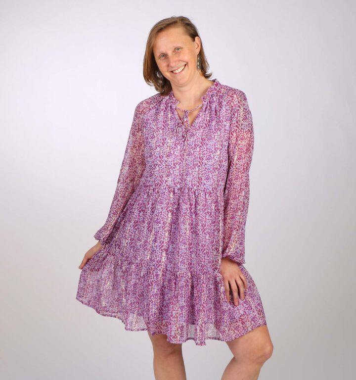 Vero Moda Lulu Paars Kleedje
