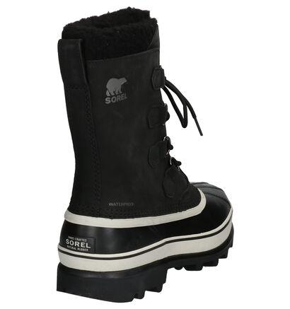 Sorel Caribou Zwarte Snowboots in nubuck (252851)