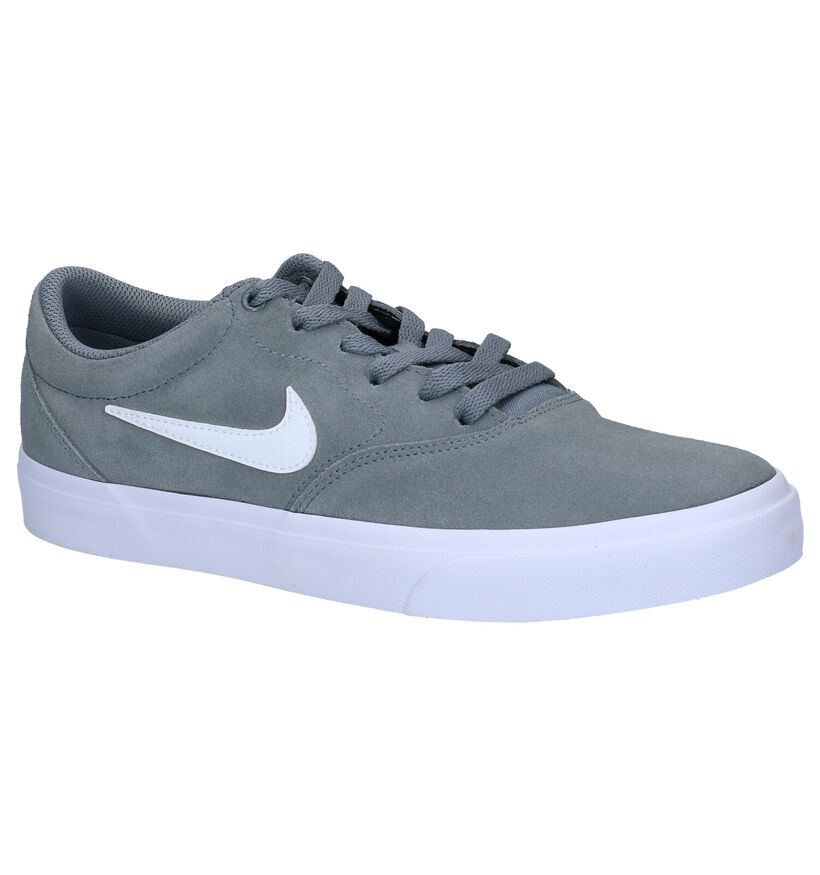 Nike SB Charge Suede Grijze Sneakers in nubuck (274995)