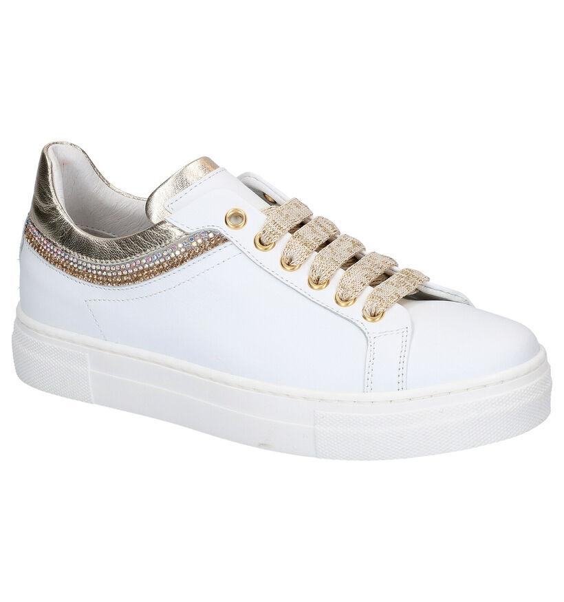 Witte Lage Sneakers Hoops Hop in leer (266798)