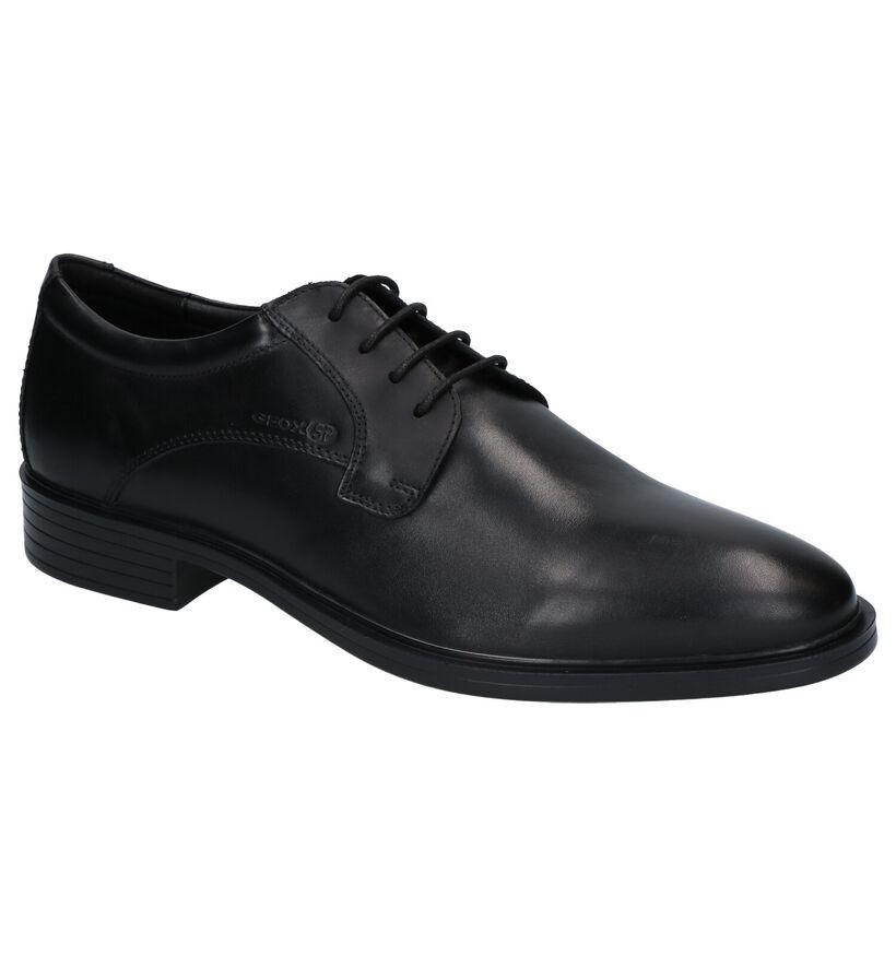 Geox Gladwin Chaussures habillées en Noir en cuir (251609)