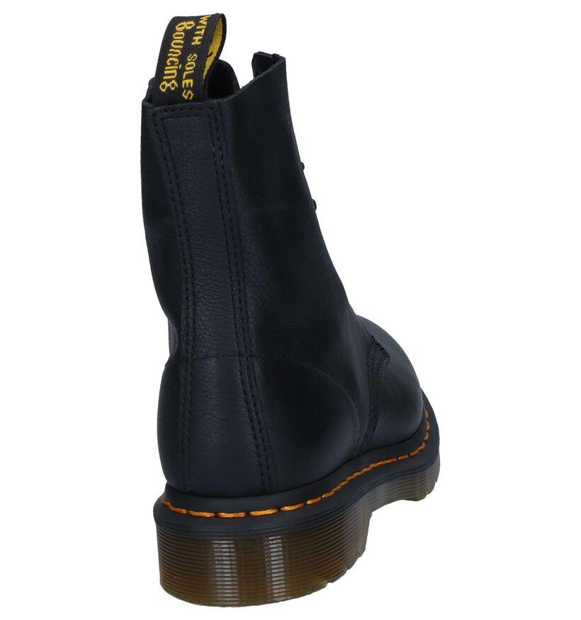Zwarte Dr. Martens Pascal Boots in leer (253110)
