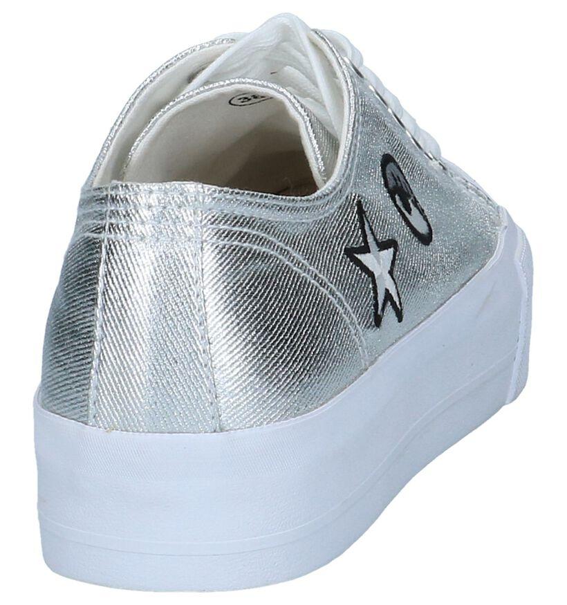 Zilveren Sneakers met patches Hampton Bays in stof (192037)