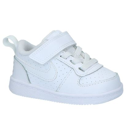Nike Court Borough Baskets basses en Blanc en cuir (219591)