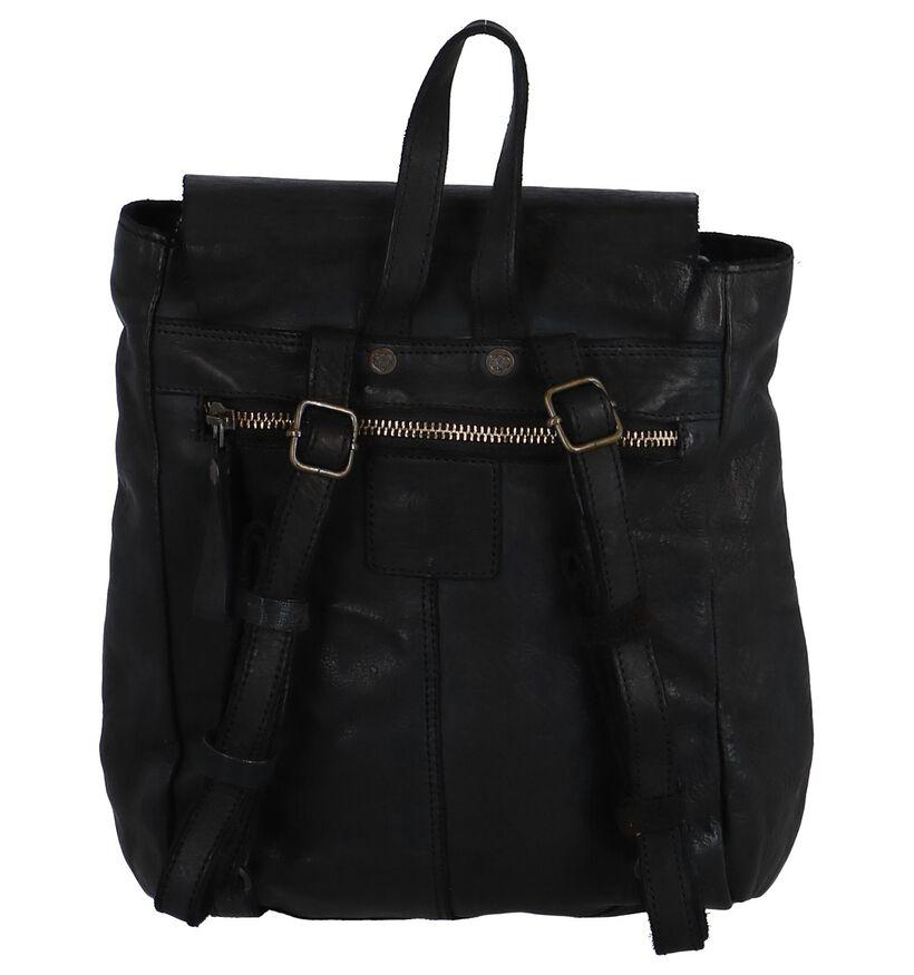 Bear Design Sac à dos en Noir en cuir (264219)