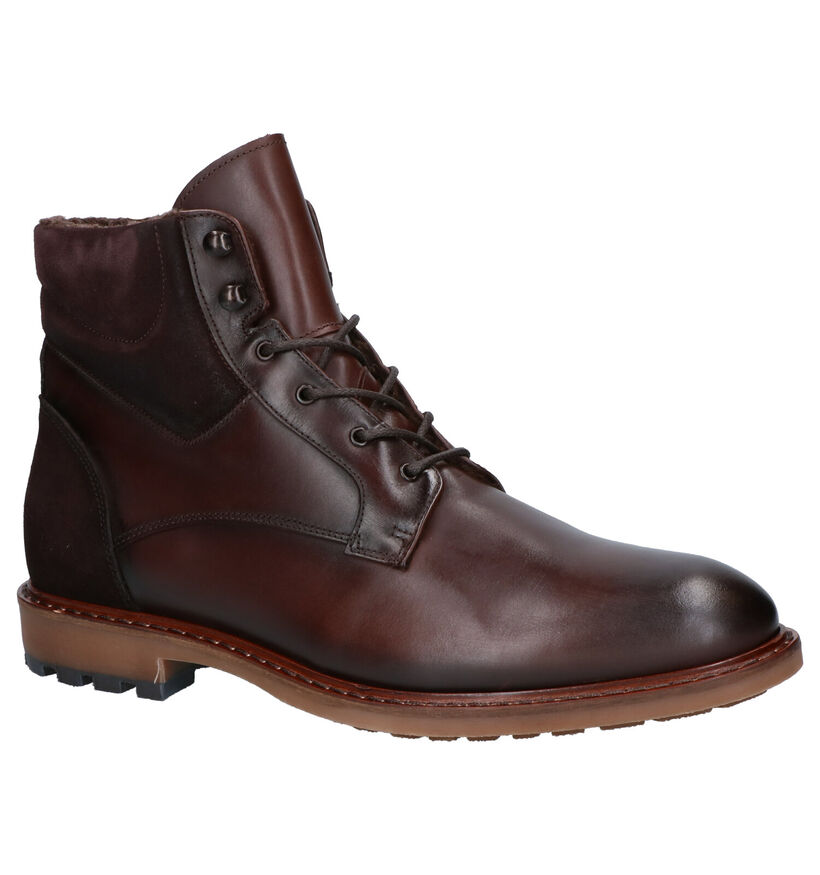 Giorgio Bruine Boots in leer (260522)