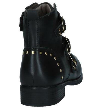 Zwarte Boots Stoer Milo & Mila in leer (230841)
