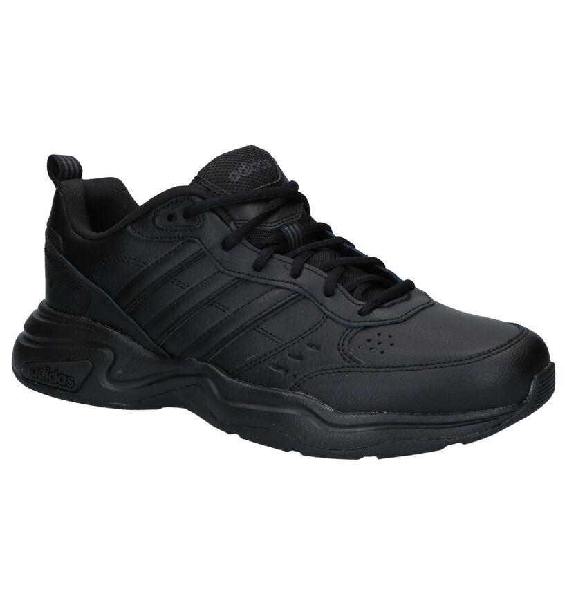 adidas Strutter Zwarte Sneakers in leer (261837)