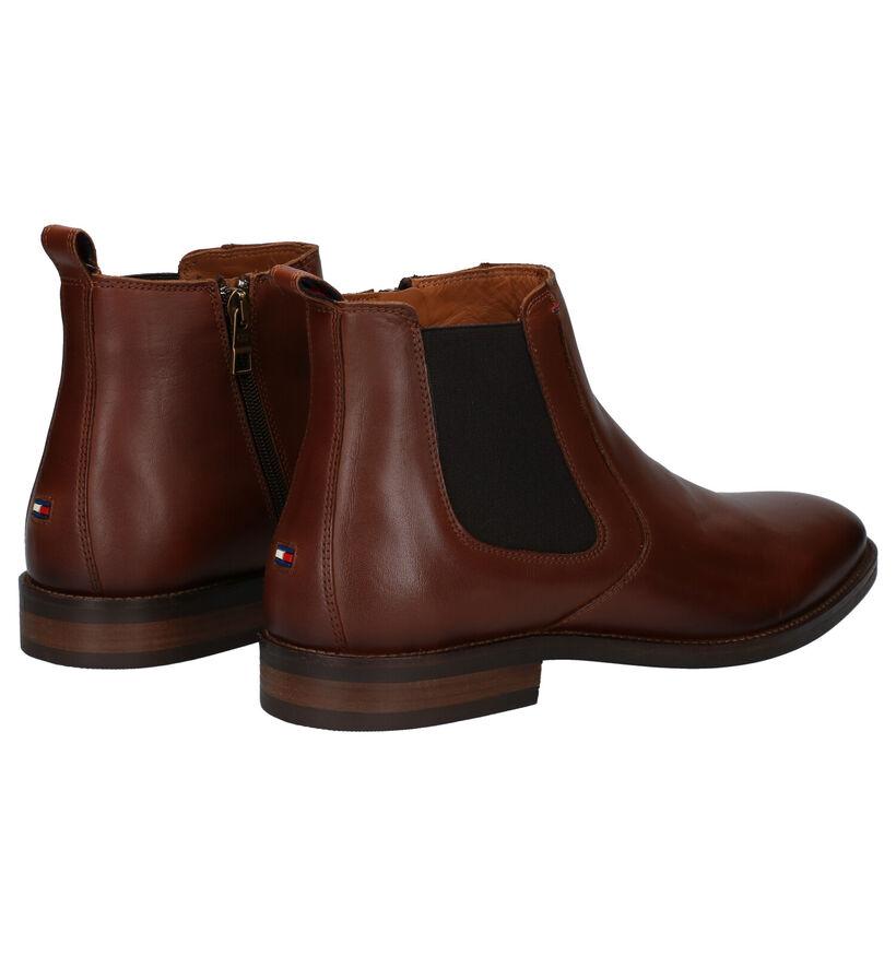Tommy Hilfiger Essential Chelsea Boots en Cognac en cuir (279966)