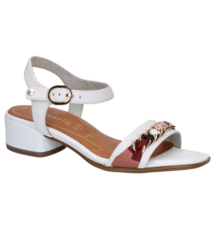 Tamaris TOUCH it Witte Sandalen in leer (270117)
