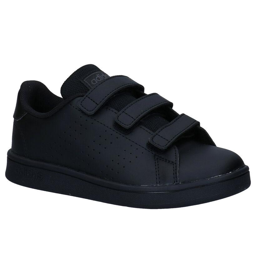 adidas Advantage Zwarte Sneakers in kunstleer (273470)