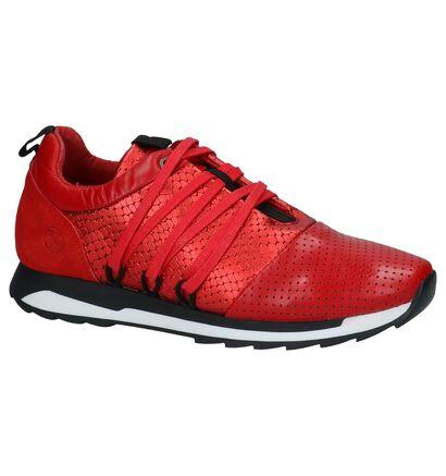 Post Xchange Carly Rode Sneakers in leer (236017)