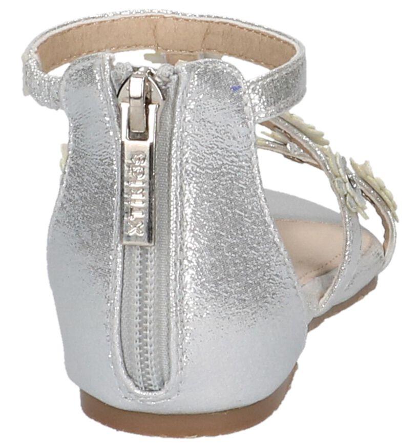 Zilveren Sandalen Milo & Mila in stof (209265)