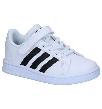 adidas Grand Court Sneakers Zwart in kunstleer (252543)
